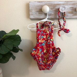 Other - Floral Romper w/ headband